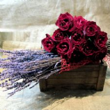 Red roses and lavender / Κόκκινα τριαντάφυλλα και λεβάντες